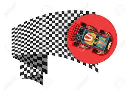 Checkered Flag Eps Karting Sport Symbol With Checkered Flag Isolated Vector
