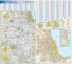 Illinois On A Map by Large Roads And Highways Map Of Illinois State With National Parks