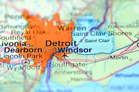 map usa detroit detroit michigan in the usa on the map stock editorial photo