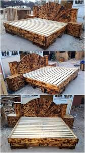 repurposed wooden pallets beds wood pallet furniture