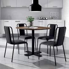 tables cuisine table ronde pour cuisine en stratifié avec pied central spinner