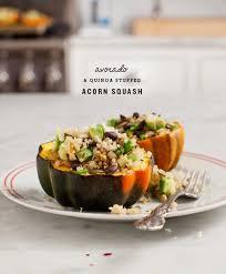 avocado quinoa stuffed acorn squash recipe and lemons