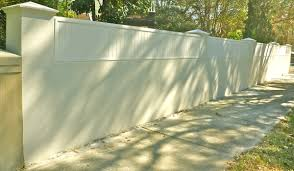 Garden Walls And Fences by Brick Wall Fence Designs And This Modern Garden Design With Brick