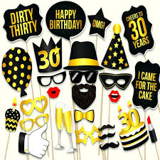 photo props photo booth props thirty 30th happy birthday party photo booth