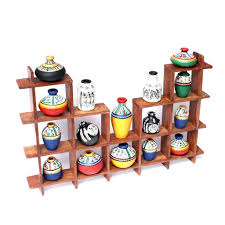 terracotta pots handpainted wooden frame with terracotta pots wall hanging