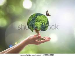 green globe tree on volunteers stock photo 287860979