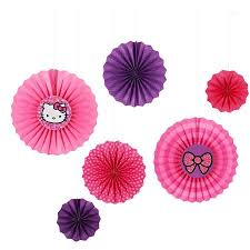 hello party supplies hello paper fan decorations 6 count party supplies