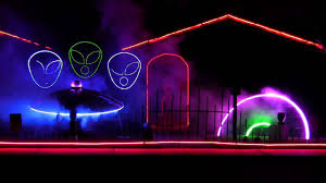 halloween laser light show 2013 halloween light show ufo takeover flash youtube