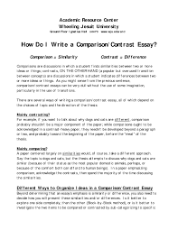 Ccot Essay Examples Comparison And Contrast Essay Conclusion Examples Writing A