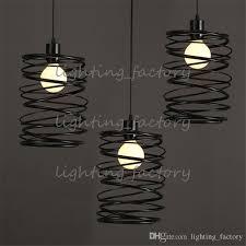discount wholesale vintage pendant lights led l metal spiral