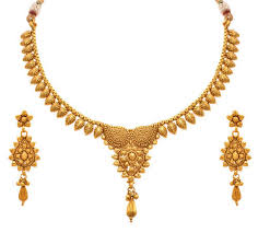 earring necklace set images Jfl gold one gram gold plated necklace set with earrings size jpg