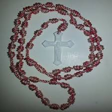 rosary twine handmade knotted cord rosary twine plastic crucfix