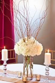 hydrangea centerpieces curly willow and hydrangea centerpiece diy wedding centerpiece