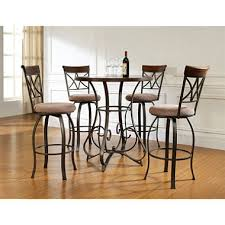 Pub Table And Chairs Set Hamilton Pub Table U0026 Swivel Bar Stools 5 Piece Set Sam U0027s Club