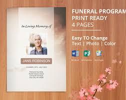 Where To Print Funeral Programs Printable Bi Fold Funeral Program Template Obituary Template