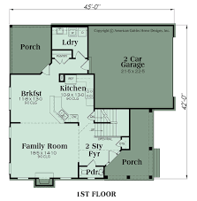country floor plans with porches country plan 2369 square feet 4 bedrooms 3 bathrooms avondale