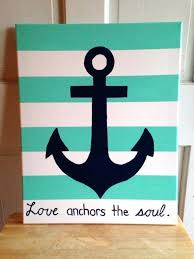 Best Love Anchors The Soul - anchor painting diy nautical watercolor canvas best anchor