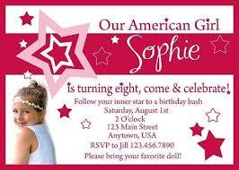 american birthday party invitations a birthday cake