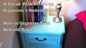 how to organize your bedside table drawer organizers katie