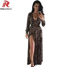 aliexpress com buy europe summer leopard print maxi dress 2016