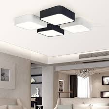 Light Fixtures For Living Room Ceiling Simple Diy Led Ceiling Light Fixture Living Room Bedroom Black