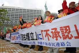 steve rabson column okinawans resist the construction of yet