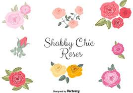 free vector shabby chic roses download free vector art stock
