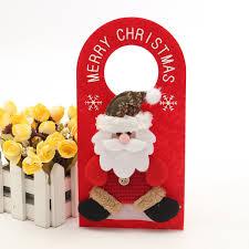 santa snowman elk household christmas ornaments fabric crafts door