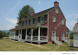 colonial farmhouse photo of old farm house side view