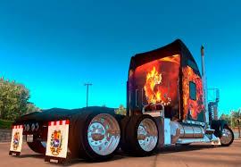 trailer kenworth 2016 kenworth w900 tigers in flames skin v1 0 mod american truck