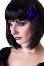 plastic hair banned skeleton hair clip clothing