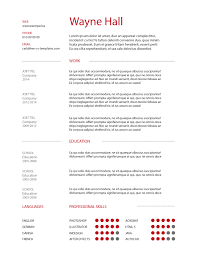 Illustrator Resume Templates Free Cv Templates Number 1 Site For Free Cv U0027s And Resumes
