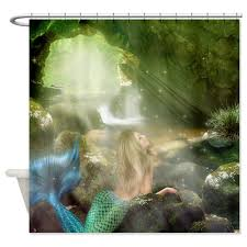 Tropical Beach Shower Curtains by Mermaid Shower Curtain Tropical Fantasy Bathroom New Lodge