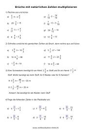 mathe brüche klasse 6 mathe unterrichtsmaterial