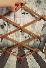 wooden expandable hat rack bamboo accordion style wood apron coat