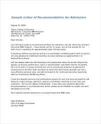 College Letter Of Recommendation From Nursing Recommendation Letter Sle