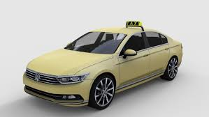 volkswagen passat 2015 passat taxi 3d model
