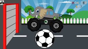 video truck monster big elephant truck monster trucks for children free kids video