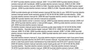 2006 hyundai elantra repair manual owners manual for 2006 hyundai elantra docs