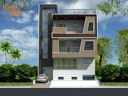 Floor Plan For 30x40 Site by 3 Storey House Plans Indian And Elevation Design Front Elevation