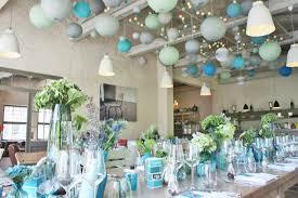 tons mariage décoration de mariage dans les tons de turquoise aqua et bleu