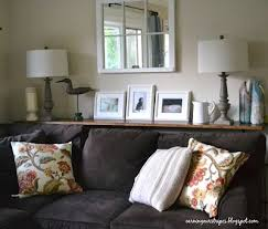 shelf behind couch looks like a sofa table because i don u0027t