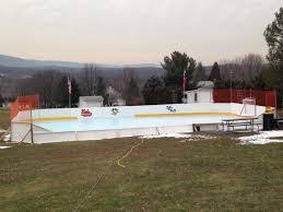 backyard ice hockey skating rink go penguins