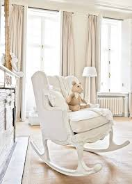 Nursery Room Rocking Chair White Ba Nursery With Shab Chic Decor Shab Rocking