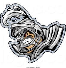 royalty free clip art vector logo of a tough knight football