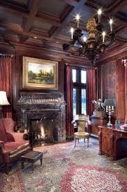best 25 english manor ideas on pinterest english country manor formal home office with antique english desk cherry wood paneling and coffered ceiling period