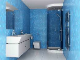blue bathroom design living home decor minimalist blue bathroom