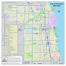Chicago City Map by Maps City Of Evanston