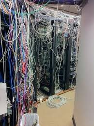 Messy Wires Server Room From Hell If Your Server Room Looks Like This See