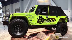 transformers jeep wrangler 2016 jeep wrangler unlimited bestop customized walkaround sema
